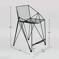 Polubarinova chair with armrests