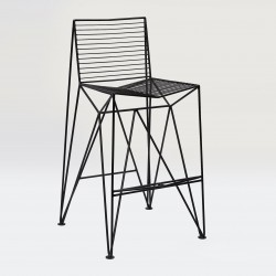 Bar chair without armrests