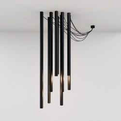 TUBE chandelier black 8