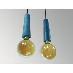 CONCRETE LAMP SOCKETS (BIG - BLUE)