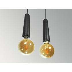 CONCRETE LAMP RECEPTACLE (LARGE - BLACK)