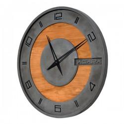 "Бетонные часы ""LORI black/wood"""