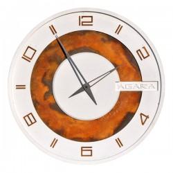 """Бетонные часы """"LORI white/rust"""""""