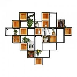 Стильная полка с деревом Сердце