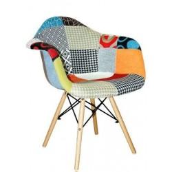 Eames Patchwork chair (wooden legs)