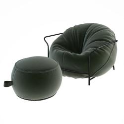 Комплект кресло с каркасом и пуф Uni