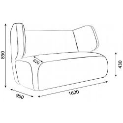 Двойной диван Loveseat sofa
