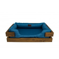 Beach chair with wooden frame Brown Dreamer + Denim