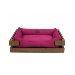 Lounger with wooden frame Dreamer Natural + Burry