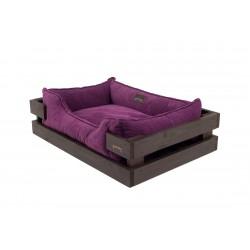 Лежак с деревянным каркасом Dreamer Brown + Brown Velvet