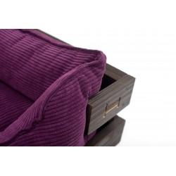 Beach chair with wooden frame Brown Dreamer + Brown Velvet